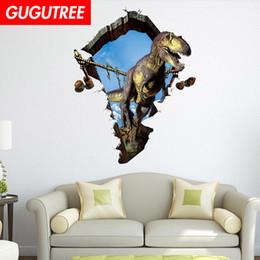 $enCountryForm.capitalKeyWord NZ - Decorate home 3D dinosaur cartoon art wall sticker decoration Decals mural painting Removable Decor Wallpaper G-946
