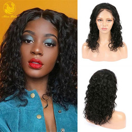 full cuticle virgin human hair 2020 - Fast Shipping Lace Front Human Hair Wig Jerry Curl Cuticle Aligned Virgin Brazilian Wigs for Black Women discount full c