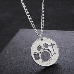$enCountryForm.capitalKeyWord Australia - Hollow Drum kit Necklace Rock And Roll Music Jazz Pendant Cool Necklace For Music Lovers Women Men Cut Coin Jewelry Gifts