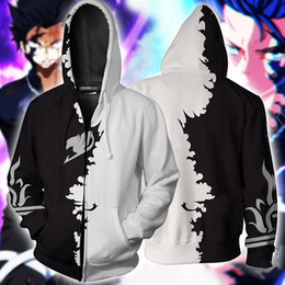 $enCountryForm.capitalKeyWord Australia - BIANYILONG 2019 Autumn Winter 3D Printed Fairy Tail Gray Fullbuster New Look Cosplay Zip Up HoodieJacket clothing