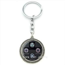 $enCountryForm.capitalKeyWord NZ - TAFREE men jewelry art Picture pendant keychain geeky perfect gift idea men Video Game Controller man Key chains