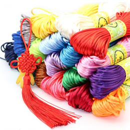 multi cord bracelet 2019 - 20m Braided rope Sewing Cords Knot Thread Polyester DIY Hand Knitting Homemade Slippers bracelet 2.5mm cheap multi cord