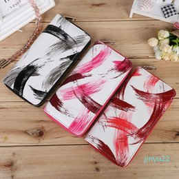 graffiti long wallets UK - 2020 Art Graffiti Korean Version of The Ladies Wallet High Fashion Creative Unique Women Wallet Long PU Leather Wallet