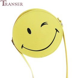 $enCountryForm.capitalKeyWord Canada - Cheap Transer Funny Smiling Face Women Shoulder Bags Handbag Girls Kid Clutch Messenger Bag Coin Phone package z6 35
