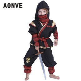 Discount children role play costumes - Aonve Halloween Children Cosplay Costumes Boys Nijas Role Play Games Fancy Clothing Set Kids Role Playing Stage Show Dis