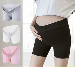 Leggings Pregnant Australia - Pregnant Women Safety Pants Anti-light High Waist 2019 Short Leggings Pants Spring Summer Thin Stomach Lift Safety Shorts Wholesale
