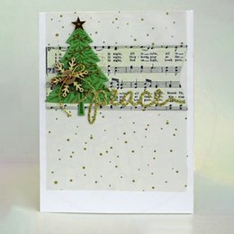 Card die punCh online shopping - GJCrafts Pc mm New Arrival Christmas Pines Metal Cutting Dies Scrapbooking Punch Embossing Stencil Card DIY Crafts