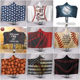 $enCountryForm.capitalKeyWord Australia - Hooded Blanket Soft Warm Children Towel Blanket with Hood Yellow Baseball Football Sherpa Fleece Wrap Blanket for Kids 130cm*150cm