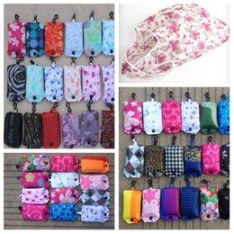 caldo stile coreano moda Borse pieghevoli eleganti ed ecologici stampati sacchetto di immagazzinaggio in poliestere creativo shopping bag T2D5003 in Offerta