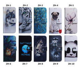 Wolf card online shopping - Aminal Leather Wallet Case For Galaxy S10 S10E M30 M20 M10 A70 A50 A40 A30 A20 A10 Flower Lion Panda Dog Wolf Tiger Owl Slot ID Flip Cover