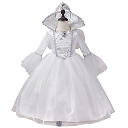 Wholesale 100 real children girl white fairy wing dress with hairband stage stuido queen princess cos girl