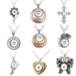 $enCountryForm.capitalKeyWord NZ - Cheap Pendants XH1953 crystal cross flower LOVE HOPE Elephant 18mm snap button jewelry Sweater chain
