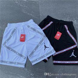 1c2b8bb39e20cc Discount gore tex pants - 19ss New Arrvial Paris 23 Jumpman Short Pants  elastic waist track