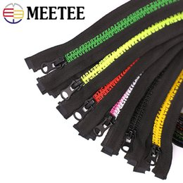 Teeth Coating Australia - Meetee 80cm 5# Letter Teeth Resin Zipper Open-end Auto Lock Zippers for Down Jacket Coat DIY Garment Sewing Accessories