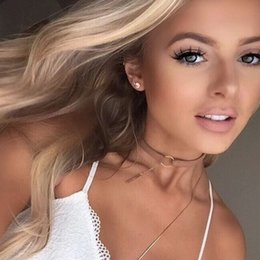 cheap black chokers NZ - Cheap Choker Necklaces 2019 New Black Velvet Choker Necklace Gold Chain Bar Chokers Necklace For Women collares mujer collier ras du cou