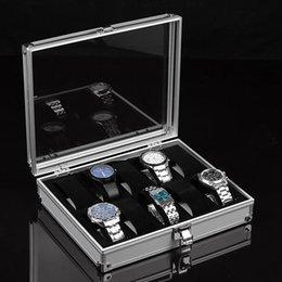 Watch Organizers Australia - Organizer Aluminium Alloy Watch Display With Lock Wrist 12 Grid Storage