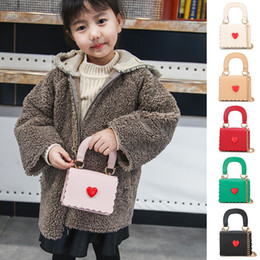 $enCountryForm.capitalKeyWord Australia - Kids Designer Handbags 2019 Korean Girls Mini Princess Purses Fashion Chain Cross-body Bags High Qualuity PU Heart Tote Bags Girls Gifts