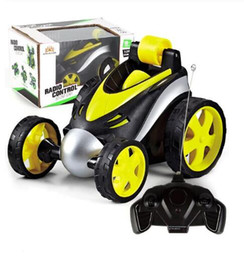 $enCountryForm.capitalKeyWord Australia - Wireless RC Car Tumbling Stunt Dump Truck Remote Control Toys For Children Electric Cool RC Cars Boy Birthday best Gifts kids toys