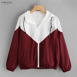 $enCountryForm.capitalKeyWord Australia - Romwe Fashion Hooded Two Tone Zipper Pockets Jacket Coats And Jackets Autumn Women Clothes High Waist Long Sleeves Outwear