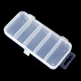 Plastic Fishing Lure Box Case Australia - 5 Compartments Plastic Fishing Lure Bait Box Storage Organizer Container Case