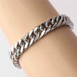 $enCountryForm.capitalKeyWord Australia - 1Pc Fashion Bracelet 316L Stainless Steel Classical Silver Tone Bracelet for Men 23CM