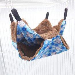Ingrosso Warm Double Hammer Hammock Classic Luxury Bunkbed Small Pet Hammock Hanging Squirrel Sleeping Bag Pet Supplies