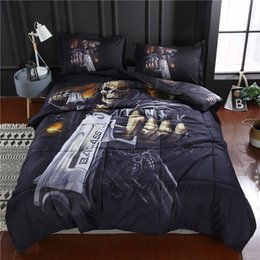 Wholesale New Skull GUN D Printed Comforter Set pc Comforters and Pillow sham