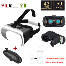 $enCountryForm.capitalKeyWord Australia - VR 2.0 glass Glasses Google Cardboard Virtual Reality 3D VR Smartphone+Bluetooth Gamepad For iPhone xiaomi 3.5 - 6.0 inch