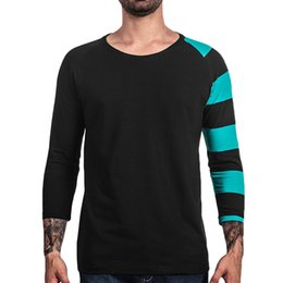 $enCountryForm.capitalKeyWord Australia - Pop2019 Pattern Stripe Printing Round Neck Long Sleeve Men's T Pity Second Ma Sun Wish Foreign Trade Expert For Goods In Stock