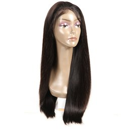 $enCountryForm.capitalKeyWord UK - Good quality Silk top Front Lace silky straight Brazilian Wig 100% Human Hair Vrigin Natural Color for black women No tangle long lasting