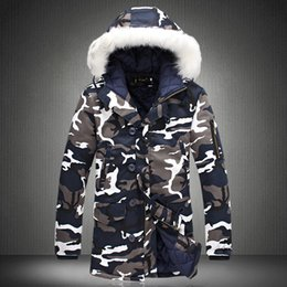 $enCountryForm.capitalKeyWord Australia - Male Fur Collar Hooded Wadded Camouflage Parkas Mens Military Medium Long Winter Coat Thickening Warm Cotton-padded Jacket