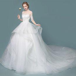 $enCountryForm.capitalKeyWord Australia - Original Photo Lace Plus Size Wedding Dresses Sale Cheap Sheer Neck Lace up Tulle Long Vestido De Noiva China Bridal Gowns
