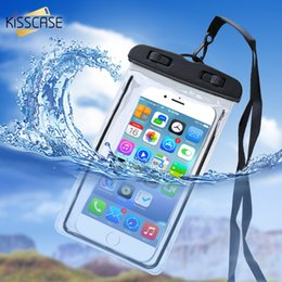 samsung note battery NZ - KISSCASE Waterproof Mobile Phone Case For Xiaomi Redmi Note 7 6 Pro Mi 9 8 A2 Lite Luminous Underwater Case Waterproof Bag Pouch