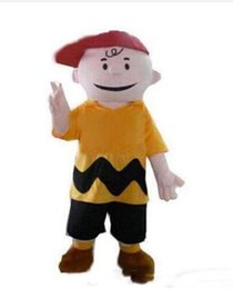 making kit UK - Hot sale Fancy Dress Charlie Brown MASCOT Adult Carnival Mascotte cosply Dress Kits Suit Factory Direct
