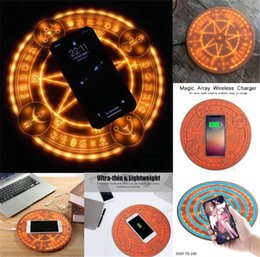 $enCountryForm.capitalKeyWord Canada - Magic Array Wireless Charger Universal Qi Standard 5W 10W Magic Circle Fast Charger Charge pad for iPhone Samsung Huawei