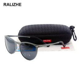 d2bc8e1b49e RALIZHE New Fashion Polarized Sunglasses Designer Aluminum Magnesium  Gunmetal Sun Glasses Mens Womens Eyewear HD TAC UV400 Driving Fishing