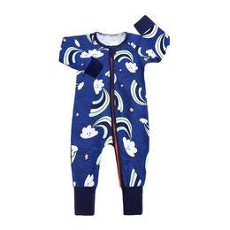 $enCountryForm.capitalKeyWord UK - Ins Baby Girl Boy Romper Clothes Rose Whale Leaf Print Jumpsuit For Newborn Kids Long Sleeve Zipper Cotton Jumper Costume Clothing 0-2T
