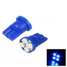 led indicator lights blue Canada - 100Pcs Lot Blue T10 Car Dashboard Light 4SMD1210 LED Auto Instrument Panel Wedge Gauge Cluster Indicator Lamp Bulb