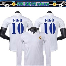 c8a5f925e5c 2001 02 Real Madrid Long sleeve Centenary Home Shirt Figo 10 Ronaldo 05 06 Real  Madrid jersey Zidane 11 12 Real Madrid Retro Shorts jersey