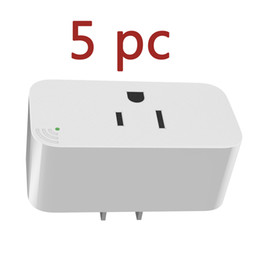 Discount electric sockets - 5Pc Smart Plug Offline Voice Remote Control Socket Outlet Remote Control Your Electric Devices On Off Anytime No Wifi US