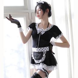 $enCountryForm.capitalKeyWord Australia - HOT Maid Dress Sexy Lingerie Cosplay Apron Maid Sexy Costume Babydoll Dress Women Lace Miniskirt Outfit