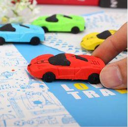 $enCountryForm.capitalKeyWord Australia - 1pcs lot send random Children School Supply Cute Car dismountable Erasers Set Rubber Eraser Best gift for children 0711