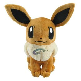 China 32cm Big Size Japanese Anime Cute Eevee Plush Toy Soft Dolls With Tag Gift for Children Elf plush doll A1 cheap plush elf dolls toys suppliers