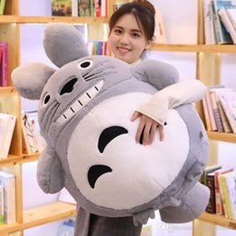 $enCountryForm.capitalKeyWord Australia - pop Japan anime Totoro plush toy giant cute totoro doll pillow sleeping pillow for children boys and girls gift 39inch 100cm DY50597