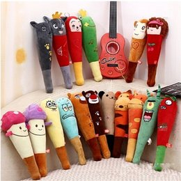 Wholesale Fox Bear Massage Stick Monkey Mushroom Plush Toy Cm Soft Pounding Sticks Comfortable Man And Women Unisex tt D1