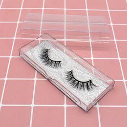 taiwan box 2019 - Fluffy Wispy 3d mink eyelashes with black cotton band reusable taiwan lashes in korean beautiful label lash box