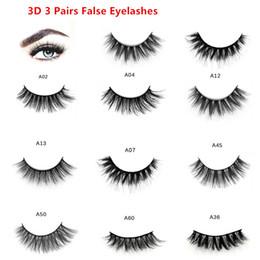 $enCountryForm.capitalKeyWord Australia - False Eyelashes 3 Pairs Natural False Eyelashes Thick Makeup Real 3D Mink Lashes Soft Eyelash Extension Fake Eye Lashes A12