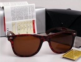 Glasses Sun Protection Australia - Hot Classic 2019 Vintage Sun Glasses Bright Black frame Glass UV protection G15 lens Man Women Sunglasses 50 54mm Come Brown box