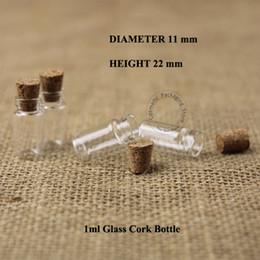 Cork sample bottle online shopping - 1000pcs ml D11XH22mm Glass Bottle With Wood Cork Mini Wishing Gift Bottle Vial Sample Bottles Cosmetic Container Packaging