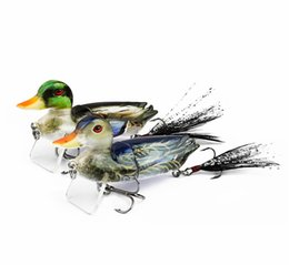 topwater lures Australia - New Glide Bait gamefish Topwater Popper Realistic Duck Fishing lure 10g 7cm Suspension Swimming 3-D Lifelike DUCK baitfish